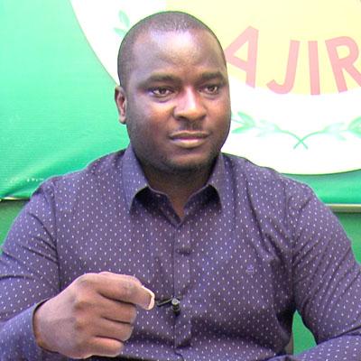 Adama Kanazoé, candidat de l'Alliance des Jeunes pour l'Indépendance et la République (AJIR) à l'élection présidentielle du 29 novembre 2015