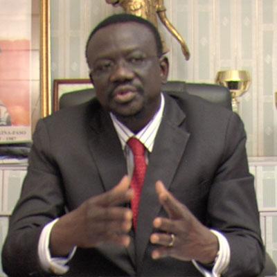 Me Bénéwendé Sankara, candidat de l'Union pour la Renaissance/Parti Sankariste à l'élection présidentielle du 29 novembre 2015