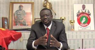 Me Bénéwende Sankara, candidat de l'Union pour la Renaissance/Parti Sankariste à l'élection présidentielle du 29 novembre 2015